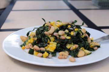 white bean and kale salad withcorn