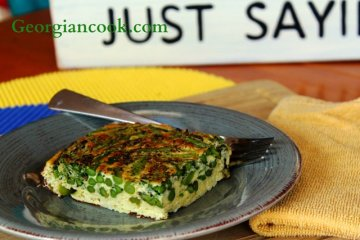 Frittata with asparagus and tarragon