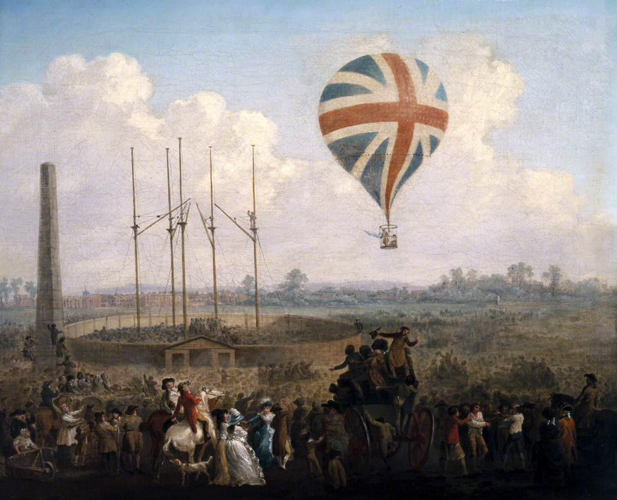 Early ballooning in 18th Century France and England