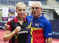 Adina Diaconu si antrenorul Petre Arnautu