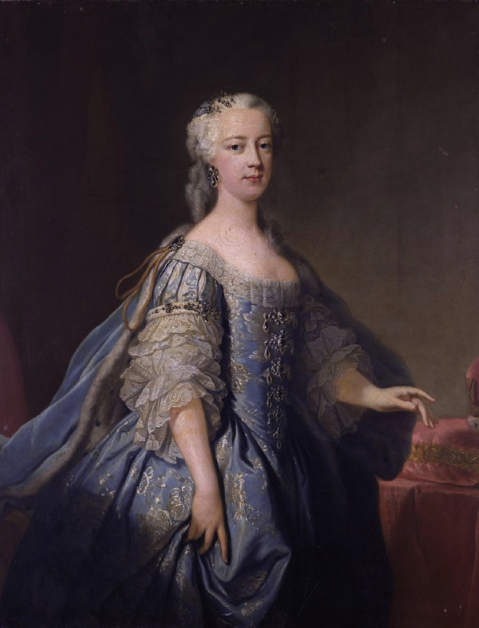 Princess Amelia of Great Britain (1711-1786), painted by Jean Bapiste van Loo, oil on canvas, c. 1738.
