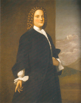 Benjamin Franklin, c. 1746, in a painting by Robert Freke.