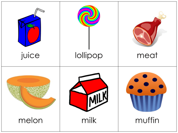 Vocabulary Cards: Food Your Child Should Know (E to P ...