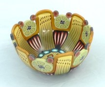 Polymer clay decorated bowl by Emily Squires Levine (http://www.etsy.com/uk/shop/emilysquireslevine/sold)