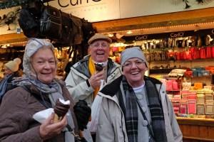 Our Australian friends enjoying a sweet treat