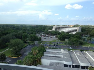 Our view from the 12th floor of the B, we always get the dumpster view or similar