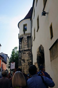 Here is an example of how Roman stonework was utilized by the early residents of Regensburg.
