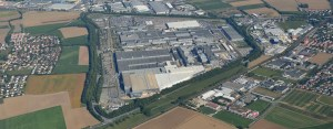 Ariel view of the BMW plant in Regensberg.