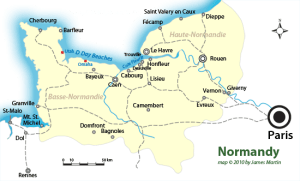 Map of Normandy with D-Day beaches, we would see them all.