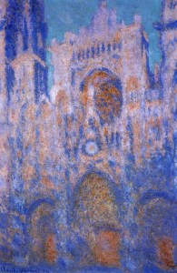 One of the many pictures Monet painted of Notre Dame.