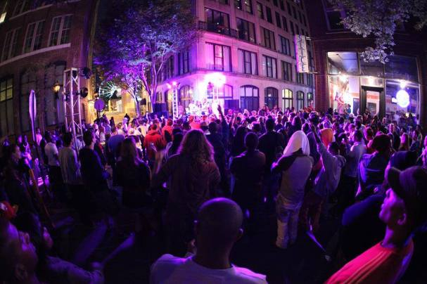 Elevate Atlanta hosts an annual block party in the center of downtown Atlanta.