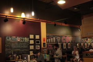 ChocoLate Coffee is a comfortable place with interesting chalk art written café. Photo by Jade Johnson| The Signal