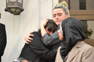Some students burst out in tears after being escorted out of the building. Photo by: Christina Maxouris   The Signal