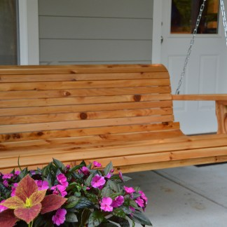 Cedar Porch Swing With Cupholders