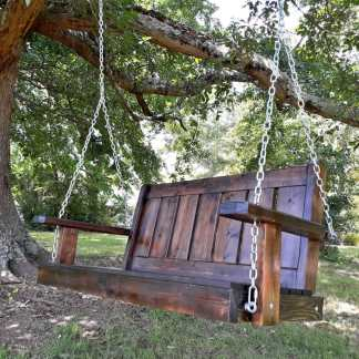 Porch Swing in Oak Tree