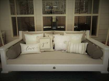 Twin-size White Bed Swing