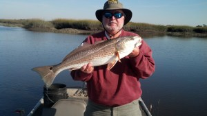 Jimmy Hickox, Sr. caught and released this 30-inch redfish while fishing in the Brunswick area.