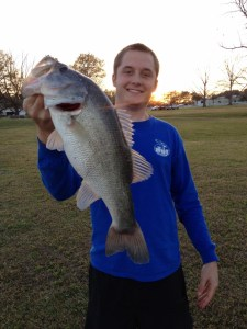 The bass bite is hot right now. Jacob Henderson of Waycross caught his biggest bass, this 6-pounder, on Wednesday from a Blackshear pond.
