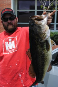 Kevin Mullis of Waycross landed this 10-pound, 7-ounce whopper bass from the Satilla River recently.