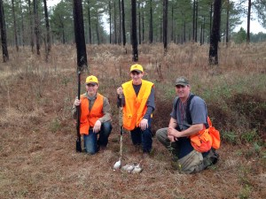 Youth hunters Zachary Shumate of Fort Valley and Brian Massey of Thomaston enjoy a successful quail hunt at Red Hawk Plantation in Pulaski County graciously hosted by Lee Harris (not pictured) and guided by Philip Warren.