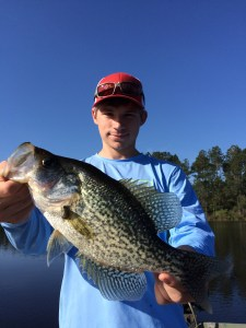 Wyatt Crews with a crappie caught on May 15.