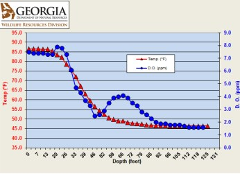Lake Lanier Temperature and Oxygen