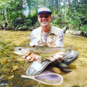 Rainbow trout caught at Dukes Creek.