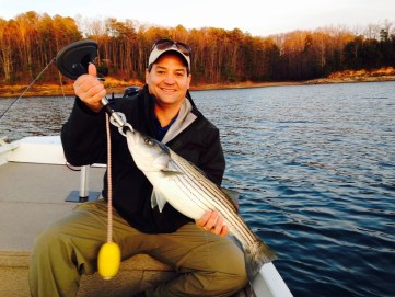 NE GA striper lanier alan on fly 3-22-17