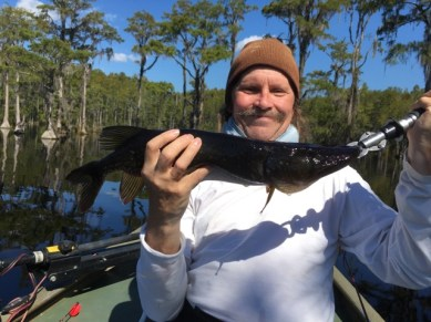 Danny Kurtilla with a jackfish caught in a Waycross area pond this past Tuesday.