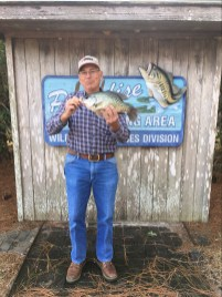 Donald Royals and his 2 lb, 11 oz crappie caught at Paradise PFA