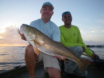 Michael Deen (L) Redfish