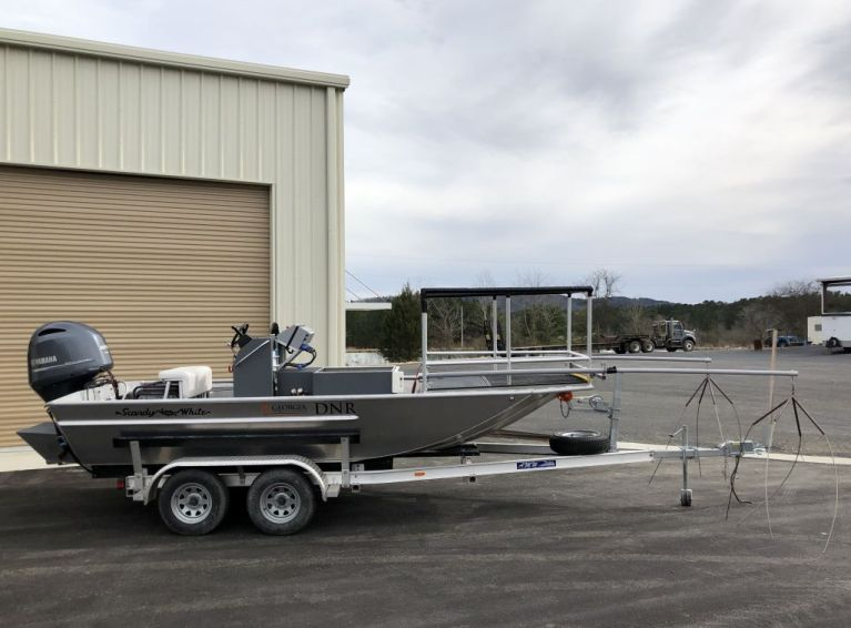 Electro-fishing boat supports fisheries