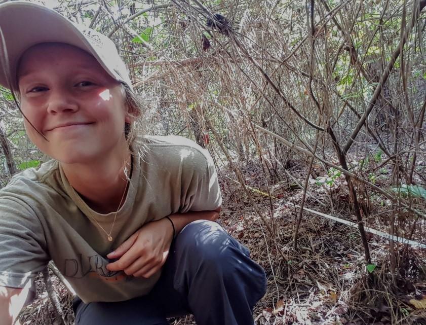 Melanie Flood in thicket