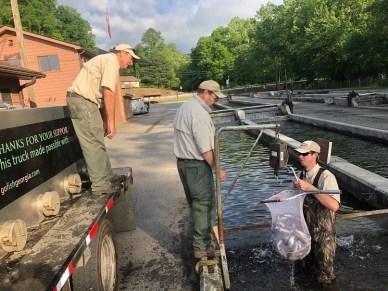 trout bkt Burton John Lee Leon Joe load for Dicks Creek 5-16-19