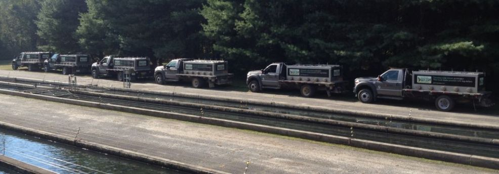 Trout Trucks Prepping to Head out from Buford Trout Hatchery
