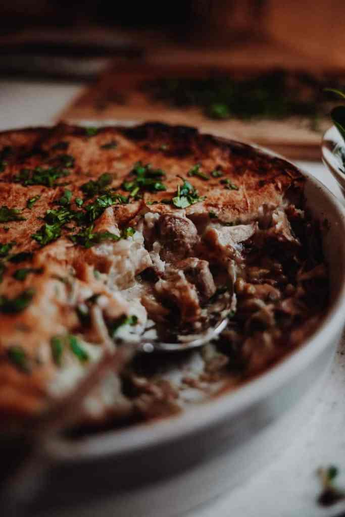 Leek & Mushroom Pie - Vegan, GF & Healthy! Georgie Eats