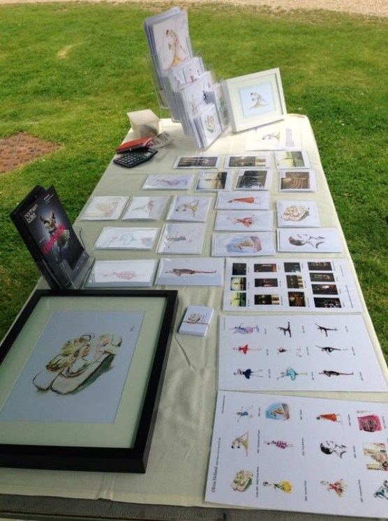 Olivia Holland. Olivia's artwork for sale at the Royal Ballet School Summer Fair, June 2014.