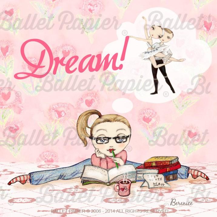 """""""Dream"""" illustration by Ballet Papier artist Berenice"""