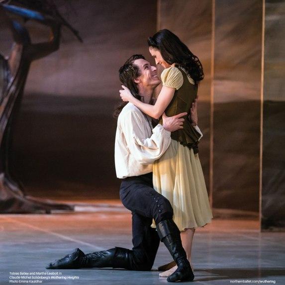 Northern Ballet dancers Tobias Batley & Martha Leebolt as Heathcliff and Cathy in Claude-Michel Schönberg's 'Wuthering Heights' (Photo by Emma Kauldhar)