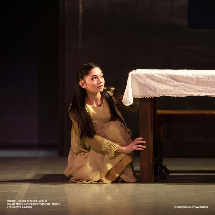 Northern Ballet dancer Rachael Gillespie as Young Cathy in Claude-Michel Schönberg's 'Wuthering Heights' (Photo by Emma Kauldhar)