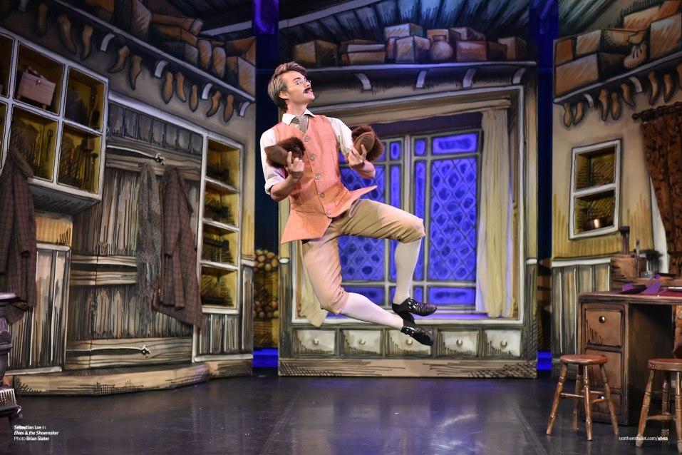 Elves & the Shoemaker. Northern Ballet dancer Sebastian Loe as the Shoemaker in 'Elves & the Shoemaker' (Photo by Brian Slater).