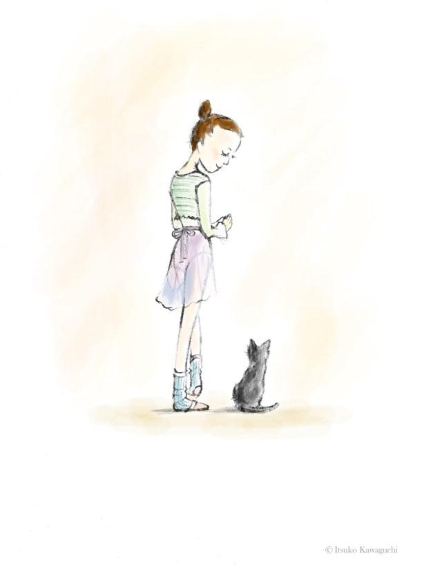 Lily and Blair illustration by Itsuko Kawaguchi