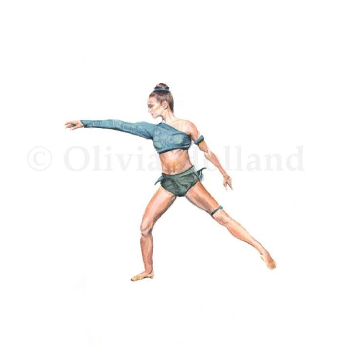 Olivia Holland. Artwork painted and printed on Waiheke Island.