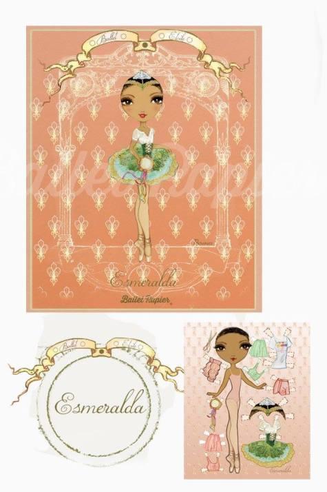 Ballet Papier - Ballet Étoiles paper dolls and notebooks - Esmeralda