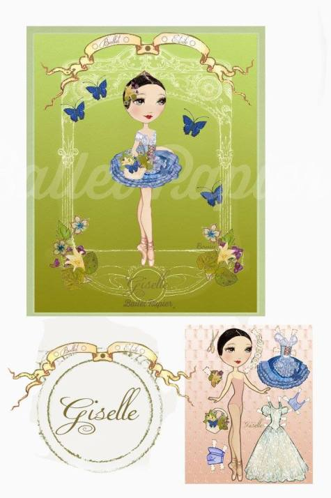 Ballet Papier - Ballet Étoiles paper dolls and notebooks - Giselle