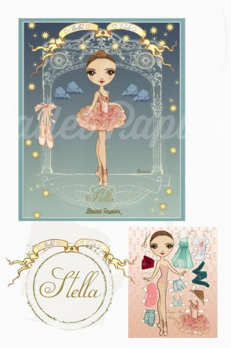Ballet Papier - Ballet Étoiles paper dolls and notebooks - Stella