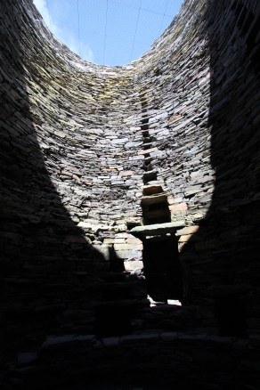 Inside Mousa broch