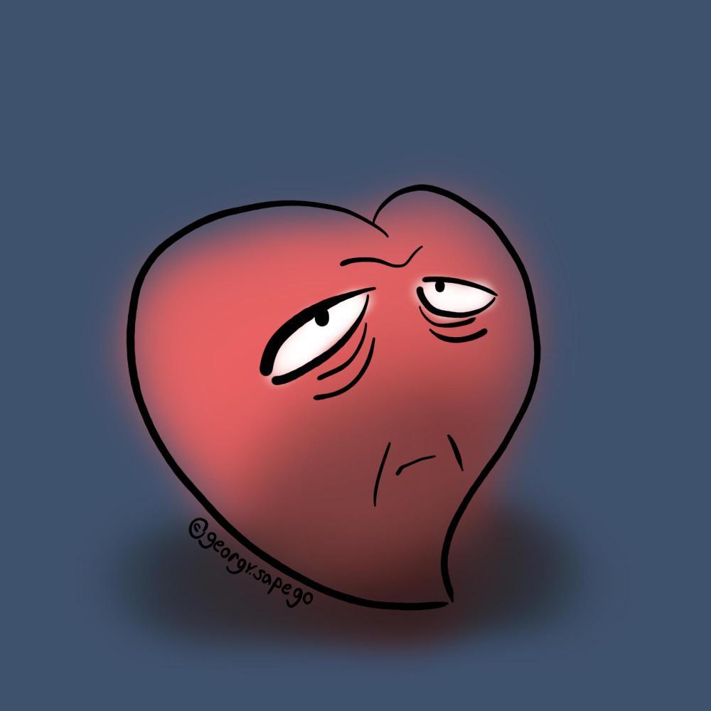 Сердце с морщинами