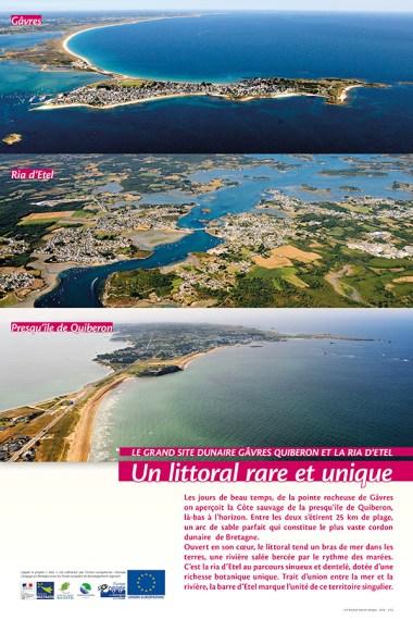 """""""Le grand site dunaire Gâvres Quiberon et la Ria d'Etel : un littoral rare et unique"""" Exposition itinérante 2014-2015-2016, Syndicat Mixte Gâvres Quiberon et Syndicat Mixte de la Ria d'Etel"""