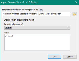 Import ArcView 3.2 or 3.3 Project